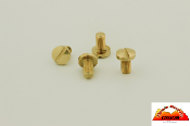 TMC 1911 Grip Screws Brass Slotted Standard Grips